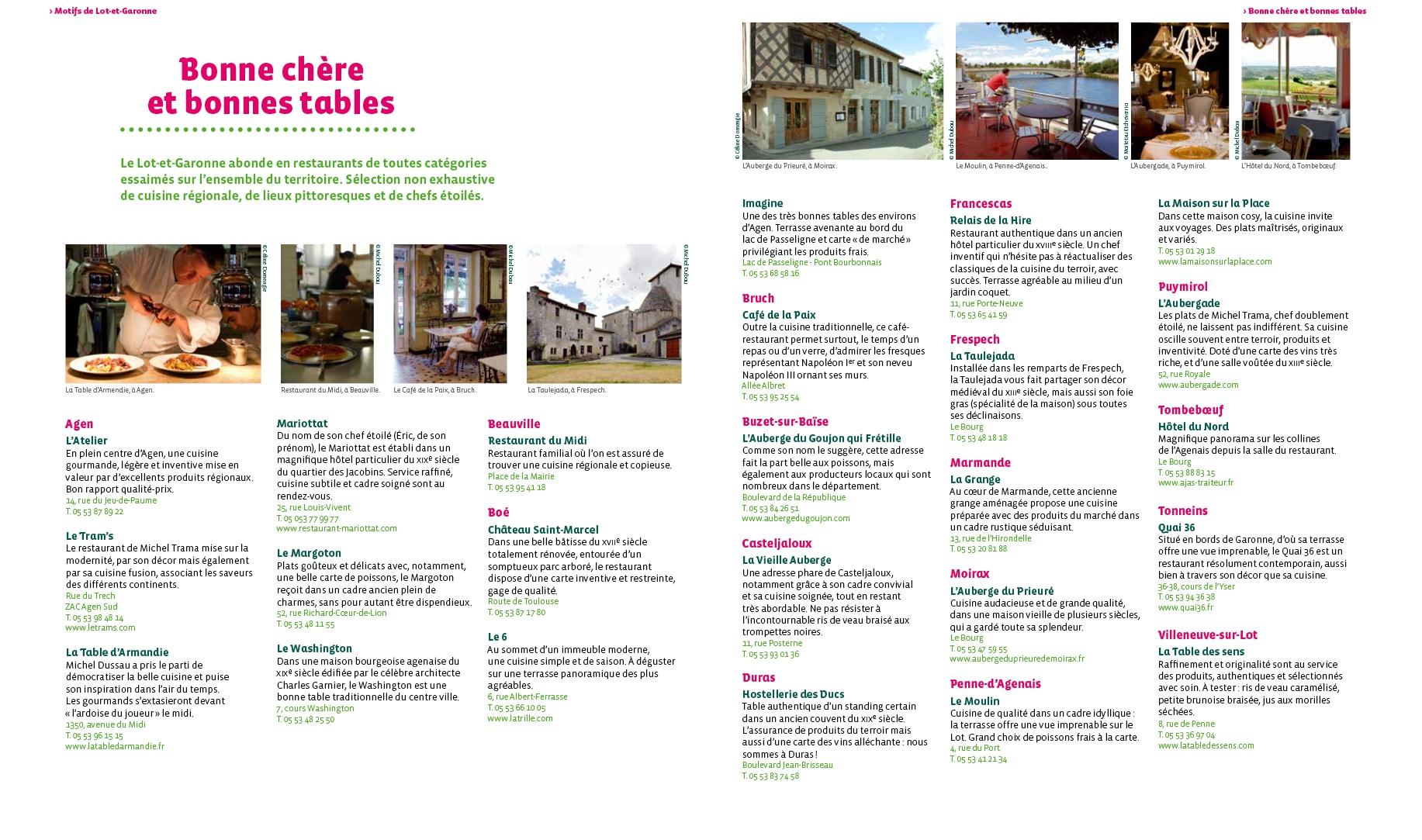 Le Lot-et-Garonne en 101 sites et monuments - Le Festin