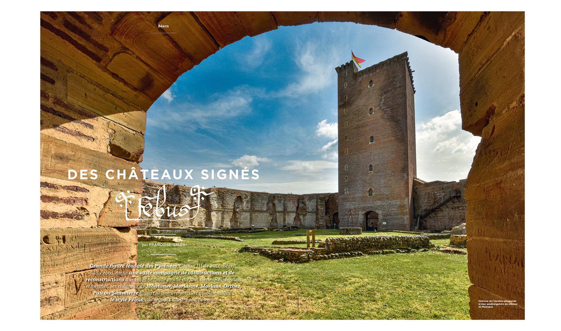 Montaner, Morlanne, Morlaàs, Orthez, Pau ou Sauveterre Châteaux fébus
